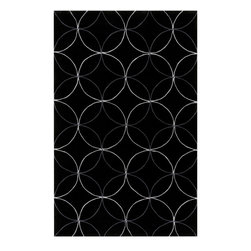 Surya - Surya Cosmopolitan COS-8872 (Black) 8' x 11' Rug - Hand tufted from 100% poly-acrylic fibers, these economical rugs come in designs inspired by high-fashion and abstract art. Contemporary and transitional themes are seen throughout the collection and make for a diverse group of rugs that can be utilized in a number of different types of rooms.