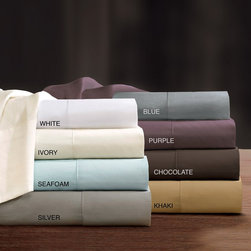 """Sleep Philosophy - Sleep Philosophy 300TC Liquid Cotton Sheet Set - Experience luxurious sleep with 300 thread count Pima Silk Touch sheet set. This silky cotton sheet is made from the finest mercerized 100% cotton pima yarns and have been engineered to be the """"perfect sheet"""". These 300 TC sheets are woven using single pick insertion that results in a high quality sheet that has the hand and sheen of silk but with the buttery soft, moisture absorbency of premium extra long staple cotton. We challenge you to feel the difference, once you�۪ve tried Pima Silk Touch, you�۪ll never go back to """"regular sheets"""". The fitted sheet fits up to a 17"""" mattress. PIMA COTTON, SILK TOUCH FINISH, 4"""" HEM ON THE FLAT SHEET AND PILLOWCASES"""