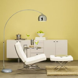 Arco Coster Lamp, White -