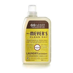 Mrs. Meyer's Laundry Detergent - 68 Loads - Sunflower - 34 Fl Oz - Mrs. Meyer's Clean Day Concentrated Laundry Detergent is remarkably concentrated 4X, one of our hardest working cleaners. Safe and gentle on clothes - yet it really packs a punch when it comes to removing dirt and grime. Contains Anionic Surfactants from plant-derived sources, dirt and stain-fighting enzymes, and, of course, those important all-natural essential oils. Earth-friendly, HE compatible laundry detergent concentrated for 68 loads. Also a great stain pre-treater. Good things really do come in small packages. 1 TABLESPOON = 1 LOAD