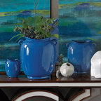 Global Views - Global Views Pocket Vase - Blue - Pocket Vase in Blue by Global Views. Available in Small, Medium or Large.*Free Shipping on Medium & Large Sizes!