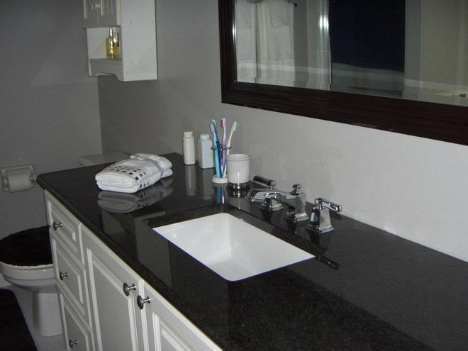 Modern Bathroom Countertops by Kingston Monuments and Stonework