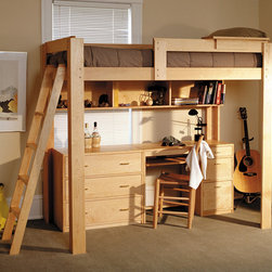 Loft bed - We have been making Loft Beds since our beginnings. Our beds are strong enough to accommodate two adults and sturdy enough to stand up to hours of sleepovers, homework and fort-building. The loft bed includes a 4 step ladder.