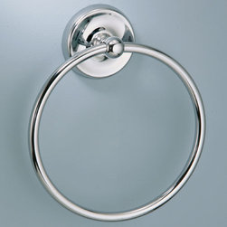 Designer II Towel Ring - Chrome - This elegant bathroom towel ring is perfect for smaller bathrooms. Keep your hand towels easily accessible.