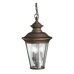 Kichler Lighting - Kichler Lighting 9847OZ Eau Claire 3 Light Outdoor Pendants/Chandeliers in Olde - Outdoor Pendant 3Lt