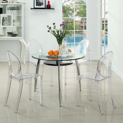 Modway - Casper Dining Chairs Set of 4 in Clear - EEI-908-CLR - Casper Collection Dining Chairs