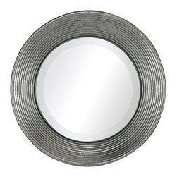 Sterling Industries - La Quinta Mini Mirror in Hammered Metal Frame - La Quinta-Mini Mirror in Hammered Metal Frame by Sterling Industries