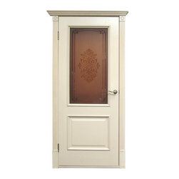 "Luxury Classic Doors Collection - ""Versal"" in Ivory white oak with decorative baguette. Truly luxury style. The door can be made with glass or no glass. Price for the whole set is $500. It includes door slab, door frame with decorative baguette, hinges and door handles."