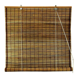 Oriental Unlimited - Burnt Bamboo Roll Up Blinds in Tortoise (60 i - Choose Size: 60 in. WideExotic with a global inspired appeal, these burnt bamboo blinds will bring an island inspired spirit to any decor. Finished in tortoise for added visual interest, the environmentally friendly blinds are lightweight and easy to hang and are available in your choice of sizes. Burnt bamboo roll up blinds are a versatile addition to any window. They will fit in with any decor. Easy to hang and operate. 24 in. W x 72 in. H. 36 in. W x 72 in. H. 48 in. W x 72 in. H. 60 in. W x 72 in. H. 72 in. W x 72 in. H