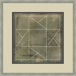 """Mantle Art Company - Vision Studio """"Geometric Blueprint II"""" fine art print - Beautiful modern art custom framed by designers to bring out the best in this piece of art. Made in the USA"""
