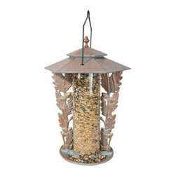 "Whitehall Products LLC - 12"" Oakleaf Silhouette Feeder - Copper Verdi - Features:"