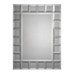 Ren-Wil - Ren-Wil Beveled Squares Wall Mirror - 24W x 32H in. Multicolor - MT924 - Shop for Mirrors from Hayneedle.com! If you feel like all your home needs is a little more Tetris then the Ren-Wil Beveled Squares Wall Mirror - 24W x 32H in. is the perfect accessory. The rectangular mirror has a generous beveled edge. A metal geometric frame features beveled squares and a sleek modern look.