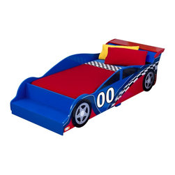 KidKraft - Racecar Toddler Bed by Kidkraft - Let's go for a ride! Our Racecar Toddler Bed makes the transition from a crib to a regular bed as easy as possible. Kids will love getting in bed at night and driving off to dreamland.