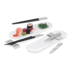 Blomus - Gaio Sushi Finger Food Set - Sushi, by any other name, is finger food. And, appropriately, you can use these Sushi Finger Food Sets to enjoy whatever small bites you love: hors d'oeuvres, sushi, dim sum or good old American appetizers. After all, snacking is a universally loved indulgence.