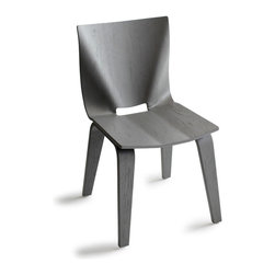 OSIDEA - Osidea V Dining Chair, Grey - A bold, but elegant stance gives this dining chair great presence. Bent plywood construction and natural finish compliment the clean design.