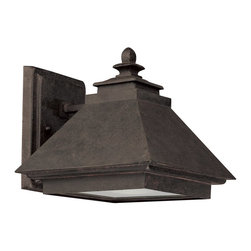 "Capital Lighting - Capital Lighting 8"" Rustic Iron Transitional Outdoor Dark Sky Wall Lantern X-IR1 - This unique design features a blend of modern and traditional elements that will compliment a variety of architectural styles. From the Rustic Iron Collection, this Capital Lighting outdoor wall sconce features a beautiful acid washed glass lens paired with a stylish Rustic Iron finish that pulls the look together."