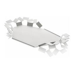 """Alessi - La Stanza dello Scirocco Tray by Mario Trimarchi - Features: -Steel coloured with epoxy resin. -Dimensions: 2.25"""" H x 23.75"""" W x 13.75"""" D."""