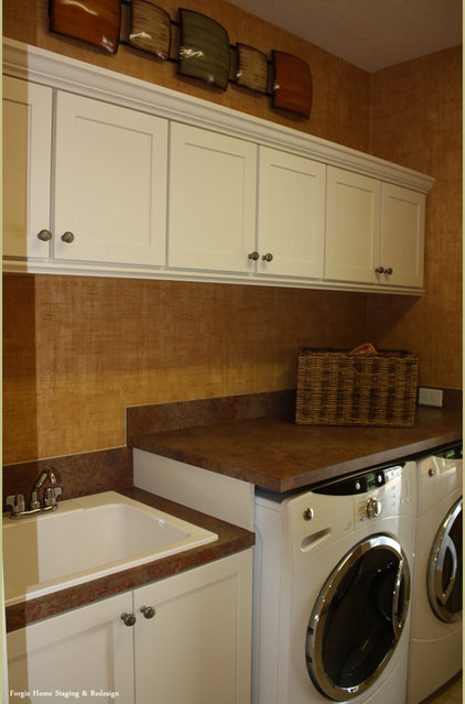 Contemporary Laundry Room by Forgie Home Staging & Redesign
