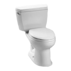 Toto - Toto CST744EL#01 Cotton White Eco-Drake E-Max ADA Elongated Toilet Complete - The Eco-Drake series gives a simple, sleek style to any bath with it's water-saving design, variety of options, and many finishes.