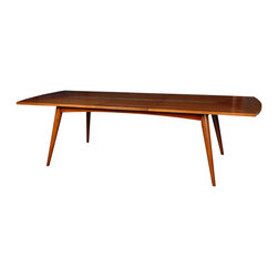 "French Heritage - Sornin Dining Table,One 23.5"" Butterfly - Fortunately there's no need to dress for dinner. The stylish midcentury chic of this dining table is smooth enough to support everything from haute cuisine to heated leftovers with a polished sophistication."