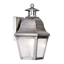 Livex Lighting - Livex Amwell Outdoor Wall Lantern Vintage Pewter -2550-29 - Livex products are highly detailed and meticulously finished by some of the best craftsmen in the business