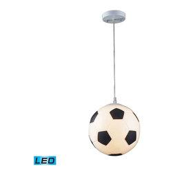 Elk Lighting - Elk Lighting 5123/1-LED Novelty Children's Pendant Light in Silver - Elk Lighting 5123/1-LED Novelty Children's Pendant Light in Silver
