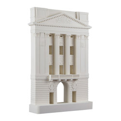 Chisel & Mouse - Buckingham Palace - No changing of the guards required! This stunning Buckingham Palace East Front re-creation is the perfect addition to your budding art collection. The architectural sculpture, handmade with plaster with etched brass for window frames, is smooth and cool, much like the famously photographed balcony it showcases.