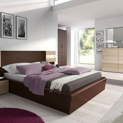 Made in Spain Wood Contemporary Modern Bedroom Sets with Extra Storage