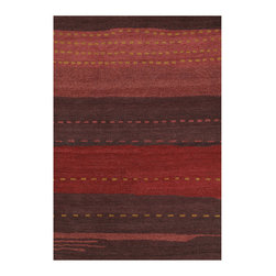 """Couristan - Oasis Seashore Rug 6897/0976 - 9'6"""" x 13'6"""" - These modern day masterpieces inspired by classic Nomadic-Gabbeh designs will work well in both contemporary and transitional room-settings. Because of their rich, sensuous coloration and clean, distinctive appearance they will complement your choice of leather or simple textured furniture pieces. You can go classic or bolder when making your choices."""