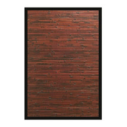 Anji Mountain - Bamboo Bamboo 6'x9' Rectangle Reddish Brown Area Rug - The Bamboo area rug Collection offers an affordable assortment of Bamboo stylings. Bamboo features a blend of natural Reddish Brown color. Handmade of Bamboo the Bamboo Collection is an intriguing compliment to any decor.