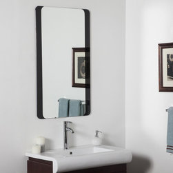 Decor Wonderland - Large Bathroom Wall Mirror - 24W x 40H in. Multicolor - SSM10060B - Shop for Bathroom Mirrors from Hayneedle.com! The Large Bathroom Wall Mirror - 24W x 40H in. measures a full meter in width and flaunts a contemporary design featuring a black border with curved corners. This stylish wall accent is handcrafted from premium-quality materials and it comes ready-to-hang with mounting hardware that makes it easy to present the mirror horizontally or vertically.About Decor Wonderland of USDecor Wonderland US sells a variety of living room and bedroom furniture mirrors lamps home office necessities and decorative accessories. Decor Wonderland strives to add variety to their selection so that every home is beautifully and perfectly decorated to suit their customer's unique tastes.