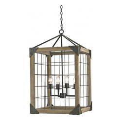 Eufaula Lantern Chandelier - This lantern has tons of industrial charm. I love that it has a lot of rustic appeal but still keeps clean, modern lines. I envision this in a beach house.