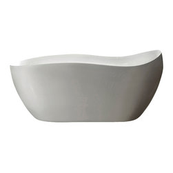 "AKDY - AKDY AK-ZF770 Europe Style White Acrylic Free Standing Bathtub, 68"" - AKDY free standing acrylic bathtubs come in many styles, shapes, and designs. The acrylic material used for tubs is very durable, light weight, and can be molded into a variety of shapes and styles which explain the large selection available in this product category. Acrylic free standing tubs are a cost efficient way to give your bathroom a unique beautiful touch. A bathtub is no longer just a piece of cast iron metal thrown into a bathroom by a builder."
