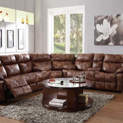 Modern Polished Microfiber Reclining Sectional Sofa Recliner Storage - Polished microfiber lends to the rough and tumble look of the Brooklyn Heights Collection. After a long day of work or an afternoon spent watching the game, you want a comfortable spot to relax with your family and friends. This stylish reclining group offers dual recliners on both the sofa and love seat and gliding single recliner on the accompanying chair. Corner wedge is available to transform this versatile seating collection into a luxurious sectional. The love seat features dual cup holders and hidden storage.