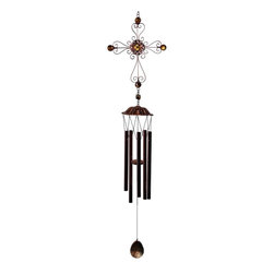 Great World - 34 Inch Metal Wire Cross Outline with Beads Wind Chime, Copper - This gorgeous 34 Inch Metal Wire Cross Outline with Beads Wind Chime, Copper has the finest details and highest quality you will find anywhere! 34 Inch Metal Wire Cross Outline with Beads Wind Chime, Copper is truly remarkable.