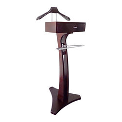 Proman Products - Proman Products Cobra Valet in Mahogany - Cobra valet, contemporary simple line design in mahogany color.