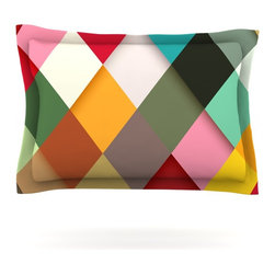 "Kess InHouse - Danny Ivan ""Colorful"" Pillow Sham (Cotton, 40"" x 20"") - Pairing your already chic duvet cover with playful pillow shams is the perfect way to tie your bedroom together. There are endless possibilities to feed your artistic palette with these imaginative pillow shams. It will looks so elegant you won't want ruin the masterpiece you have created when you go to bed. Not only are these pillow shams nice to look at they are also made from a high quality cotton blend. They are so soft that they will elevate your sleep up to level that is beyond Cloud 9. We always print our goods with the highest quality printing process in order to maintain the integrity of the art that you are adeptly displaying. This means that you won't have to worry about your art fading or your sham loosing it's freshness."