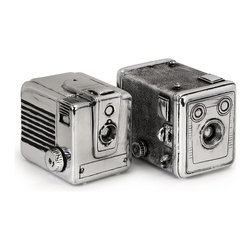 Imax Corp - Vintage Camera Boxes - Set of 2 - Exclusively designed for IMAX, these vintage camera bookend, are also storage boxes
