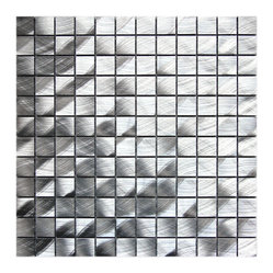 Medium Square Pattern Aluminum Mosaic Tile Sample