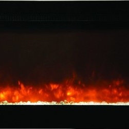 Yosemite Home Decor - 50in Electric Fireplace - This 50 inch electric fireplace allows you the option to either mount on a wall or recess flush into the wall.  Whichever installation method you chose it is a quick and easy process.  Go green with this energy efficient unit and reduce your carbon footprint while still enjoying the comforts of a fireplace year round.  The incredible believability of the flame will surely make this a focal point in your room year-round with or without the heating option in use.