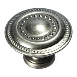Hickory Hardware - Manor House Silver Stone Cabinet Knob - Classic lines, finishes and styles create a warm and comforting feel.  Usually 18th-century English, 19th-century neoclassic, French country and British Colonial revival.  Use of classic styling and symmetry creates a calm orderly look.