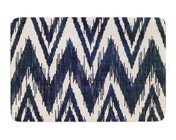 "KESS InHouse - Heidi Jennings ""Tribal Chevron Black"" Memory Foam Bath Mat (24"" x 36"") - These super absorbent bath mats will add comfort and style to your bathroom. These memory foam mats will feel like you are in a spa every time you step out of the shower. Available in two sizes, 17"" x 24"" and 24"" x 36"", with a .5"" thickness and non skid backing, these will fit every style of bathroom. Add comfort like never before in front of your vanity, sink, bathtub, shower or even laundry room. Machine wash cold, gentle cycle, tumble dry low or lay flat to dry. Printed on single side."