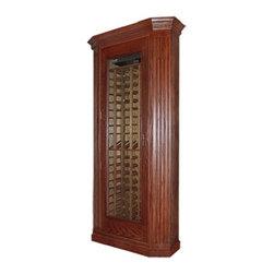 Vinotemp VINO-700CORNER 700 Model Corner Wine Cabinet w/ Glass Doors - 7273This Corner Wine ...