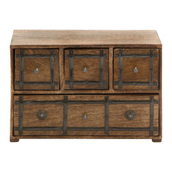Simply Timeless Wood Box with Drawer - Features: