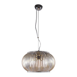 Bromi Design - Bromi Design Fullerton 3-Light Round Pendant - The right light can transform any space in an instant. This one will give your home a modern vibe with its stainless steel construction. Hang it solo or group a few together to create a mod squad!