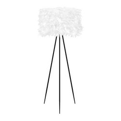 Lumisource - White Floor Lamp: 61.75 in. White Feather Floor Lamp LS-K-AUDBNFL W - Shop for Lighting & Fans at The Home Depot. Fluffy and eco-friendly, the Audubon Floor Lamp is the perfect accent for your home or office! Soft and inviting, this modern design is enhanced by an array of artificial yet realistic feathers.