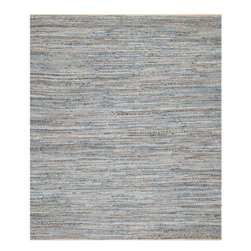 Safavieh - Grazia Natural Fiber Rug, Natural / Blue 2' X 3' - Construction Method: Hand Woven. Country of Origin: India. Care Instructions: Vacuum Regularly To Prevent Dust And Crumbs From Settling Into The Roots Of The Fibers. Avoid Direct And Continuous Exposure To Sunlight. Use Rug Protectors Under The Legs Of Heavy Furniture To Avoid Flattening Piles. Do Not Pull Loose Ends; Clip Them With Scissors To Remove. Turn Carpet Occasionally To Equalize Wear. Remove Spills Immediately. Think coastal living and casual beach house style with rugs so classic they will even work in the city. Safavieh's natural fiber rugs are soft underfoot, textural, natural in color and woven of sustainably-harvested sisal and sea grass, or biodegradable jute fibers twice-washed for unrivaled softness and beauty.
