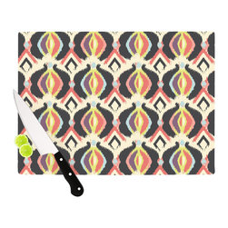 "Kess InHouse - Amanda Lane ""Bohemian iKat"" Cutting Board (11"" x 7.5"") - These sturdy tempered glass cutting boards will make everything you chop look like a Dutch painting. Perfect the art of cooking with your KESS InHouse unique art cutting board. Go for patterns or painted, either way this non-skid, dishwasher safe cutting board is perfect for preparing any artistic dinner or serving. Cut, chop, serve or frame, all of these unique cutting boards are gorgeous."