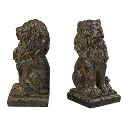 Sterling - Sterling 87-8014 Lion Book Ends - Sterling 87-8014 Lion Book Ends