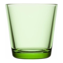 Iittala - Kartio Tumblers, Apple Green, Set of 2 - Sip from something supremely simple. You've got flawless taste, and there's no greater testament to that than tumblers that eschew superfluous decoration. Cheers!